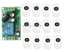DC 12V 10 A 1 Channel RF Wireless Remote Control 1 Receiver & 12 Transmitter learning code(China)