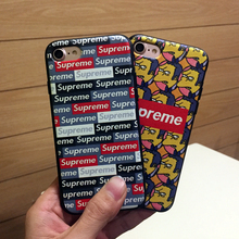 Newest soft case for apple i phone 6 6s 6plus 7 plus silicon fashion supreme design matte skin shell phone accessories cover