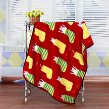 Cartoon Sock Printed Flannel Warm Pet Bed Cover Soft Blankets for Small Medium Large Cats Dogs 100x75cm(China)