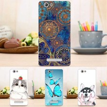 Fashion Back Painting Case For Highscreen Bay Fashion Floral Fundas Couqe Cover for Highscreen Bay