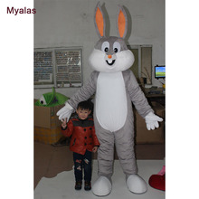 Hot Easter Bunny Mascot Costumes Rabbit Adult Cosplay Costume And Halloween Costume Customize For 1.6m To 1.85m Mascot Costume(China)