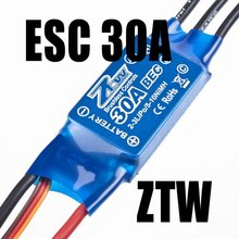 HIGH QUALITY ZTW BRAND 30A Brushless ESC speed controller with 2A BEC for Rc Heli Rc Airplane AIRPLANE AEROPLANE TOY SPORTS
