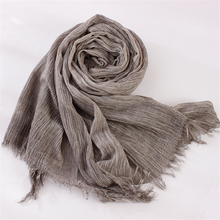 Fold Natural Cotton Scarf Women Men All Match Echarpe Winter Scarf Female Scarves 200cmx 70cm