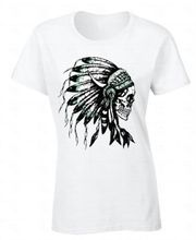 Style Man T Shirt Premium Crew Neck Headdress Skull Native American Feathers Indian Cool Short Sleeve Tee Shirts For Women(China)