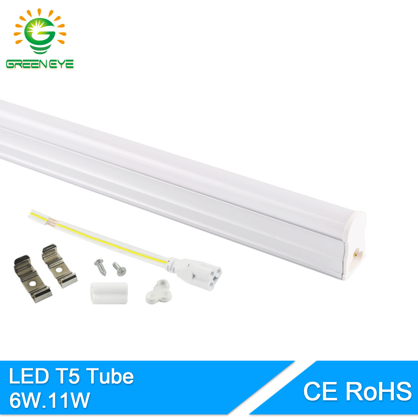 GreenEye 11W 6W LED T5 Tube Light 220V 60cm 30cm T5 lamp led wall lamp Warm Cold White led fluorescent light T5 neon 1Feet 2Feet(China)