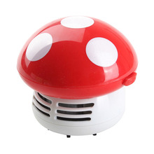 Cute Mini Mushroom Corner Desk Table Dust Vacuum Cleaner Sweeper Tools