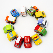 12Pcs/Lot Car-Styling Ambulance Police Cars Crane For Boys Mini Kids For Children Scale Models Pull Back Toys Boy Dinky Toy Gift