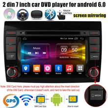"7"" inch 2 din Android 6.0 Car DVD Player GPS for Fiat Bravo 2007-2012 4G SIM LTE Quad Core radio stereo wifi AM FM RDS"
