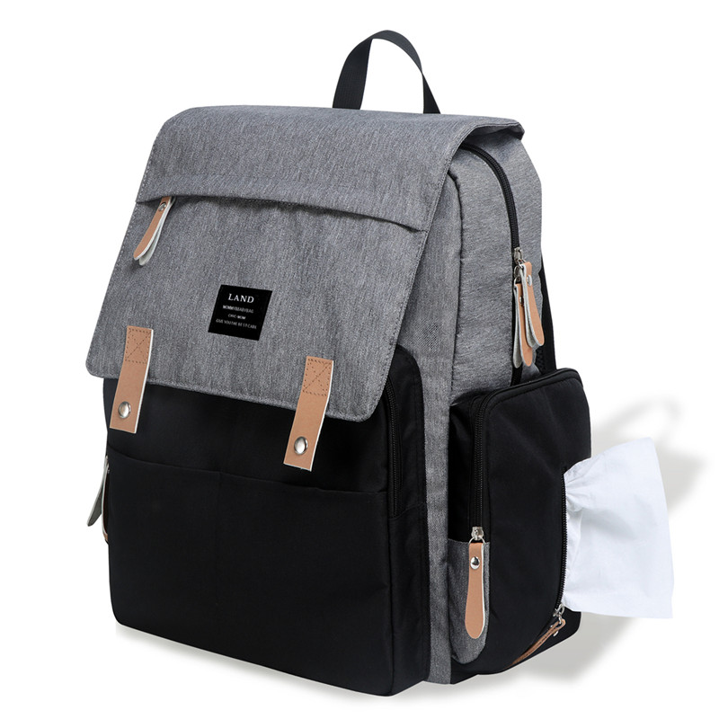 Patchwork Mummy Diaper Bag Maternity Nappy Bag Large Capacity Baby Bag Travel Backpack Designer Nursing Bag for Baby Care