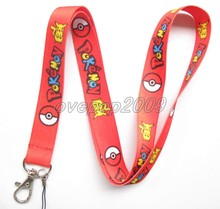 Lot 10Pcs Pokemon Pikachu Anime Mobile Cell Phone Lanyard Neck Straps Party Gifts S85(China)