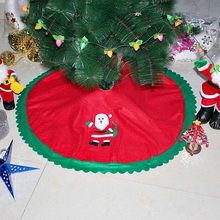 New Year's day Xmas decoration 90 cm tree skirt decorated Christmas tree root tree skirt Non-woven Sticker Fabric #03(China)