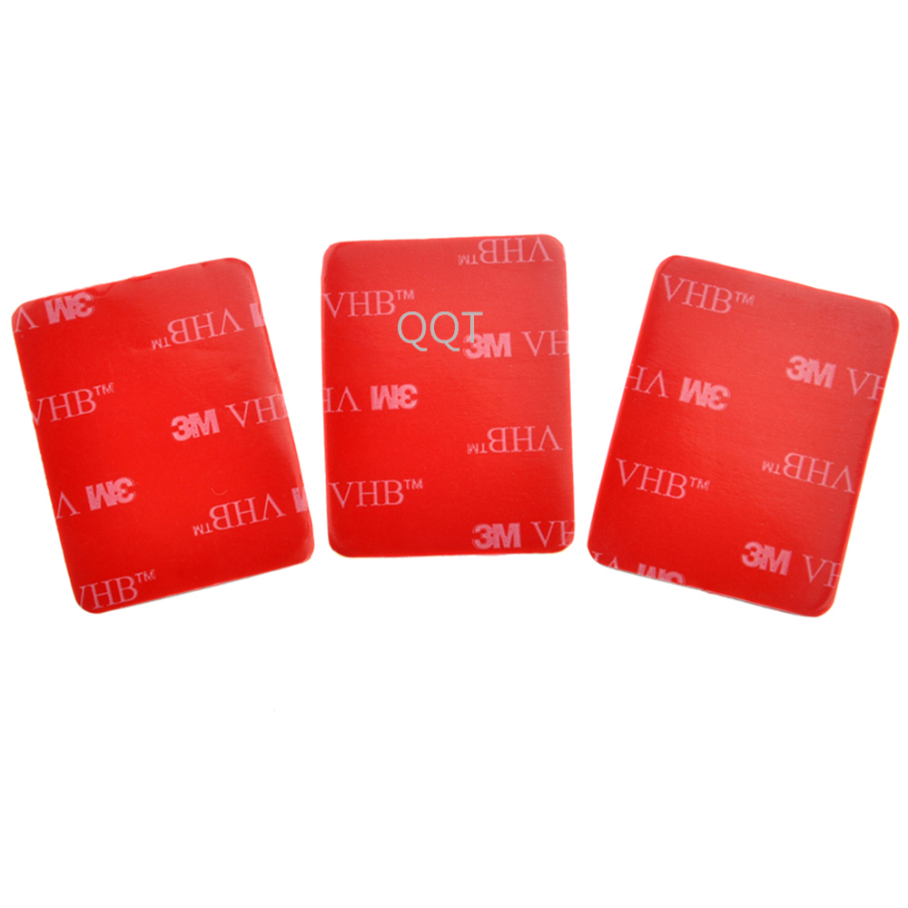 QQT 50 Pcs For Gopro hero 9 8 7 6 5 4 SJ4000 Red 3 M VHB Adhesive Sticker 25 Curve 25 Flat Double Adhesive Tape  Mounting helmet