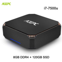 ACEPC CK2 Mini PC Настольный компьютер NUC Intel Core i7 7500U Windows 10 Home лицензированных 8 GB DDR4 120 GB SSD Gigabit Ethernet/4 K/WiFi(China)