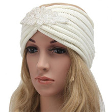 2017 Hot Sale Women Bohemia Diamond Knitting Headband Handmade Keep Warm Hairband