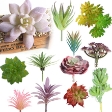 Artificial Succulent Real Touch Landscape Lotus Plants Grass Decorative Artificial Plant Garden Arrangement Christmas Decor Home(China)