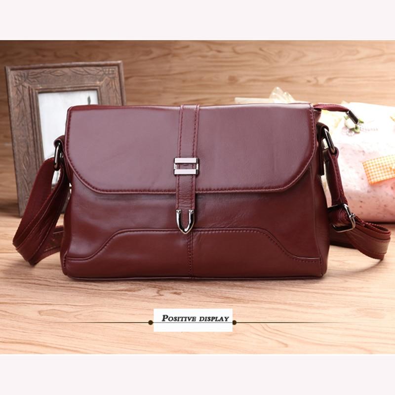 100% Cow Leather Genuine leather bag  cowhide women messenger bags handbag women famous brands  handbags high quality Shoulder B<br><br>Aliexpress