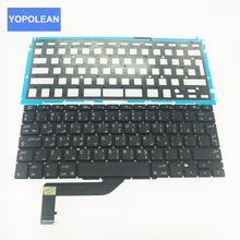 "New Full Tested Arab Arabic keyboard+Backlight Backlit For Apple MacBook Pro Retina 15.4"" A1398 2012-2015 Years(China)"
