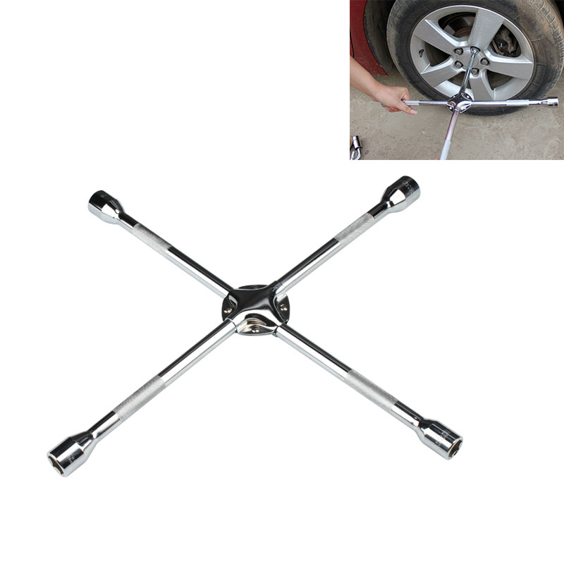 High Quality Wheel Master Wrench 4-Way Cross Tire Wrench for Socket Tyre Change Universal Torque Socket Wrench Auto Repair Tools<br>