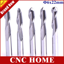 5pcs 6*22mm 2 Flutes Ball Nose Carbide Bits, CNC Router Tools, Wood Carving Tools,Cutter,Beautiful 3D Engraving on Wood Machine