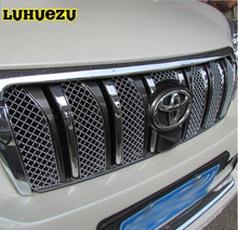 8PCS Aluminum Car Insect Screening Mesh Front Grille For Toyota Land Cruiser Prado FJ150 Accessories 2010-2013 Years(China)