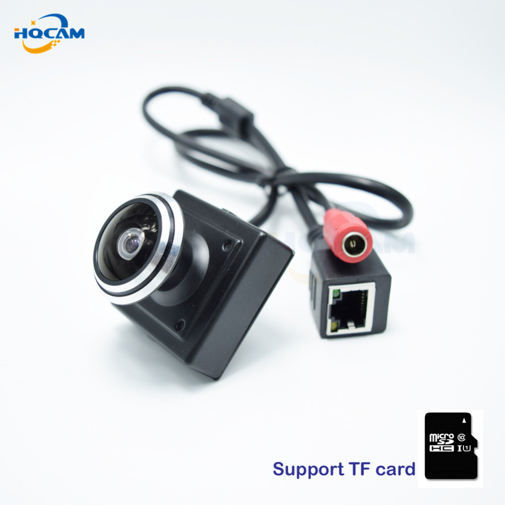 CAMHI 720P TF card camera Mini IP Camera Home Security Camera IP kamera Indoor Security CCTV Camera fishe 1.78mm wide Angle lens