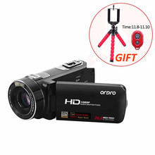"HD 24MP CMOS Digital Camera 30fps 10X Optical Zoom 3.0"" Touch Screen with Remote Control Professional Video Recorder Camcorders(China)"
