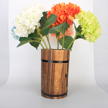 1PC Big Luxury Artificial Hydrangea Flower with Flower Rod DIY Silk Accessory for Party Home Wedding Decoration 10 Colors
