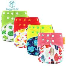 HappyFlute Pocket Diaper Baby Washable Reusable Diapers Diaper Cover Pocket Modern Cloth Diapers Nappies(China)