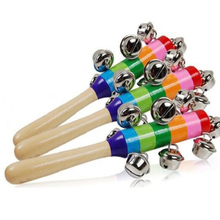 2pcs/set Rainbow Colorful Rattle Rattle Trade Orff Instruments Infant Wooden Puzzle Tambourine Early Music(China)