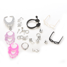 Accessories for Barbie Doll Set of Fashion Jewelry Necklace Earring Bowknot Crown Accessory Dolls Kids Gift Hot Sale