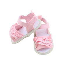 Princess Girl Summer Infant Baby Shoes Lace Soft Sole Non-slip Crib Shoes 0-18M