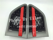 Gray and red side vent grille mesh grill Suitable for Land Rover Range Rover Sport 2010 2011 2012