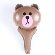 Mini Line Friends Bear Hand held Balloon Aluminum Foil Balloons Party Decoration Balloons Celebration Supplies(China)