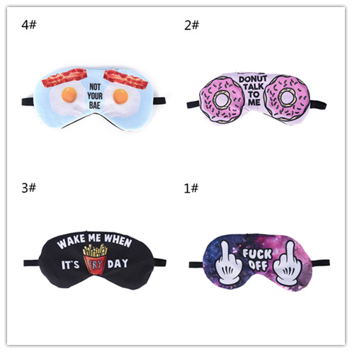 1pc Lovely 3D Printing Eye Masks Sleeping Mask Eye Care Shade Blindfold Cover Mask Sleeping Health Care Tools 4 Styles