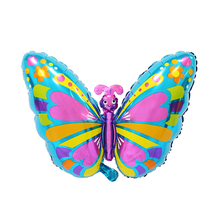 48*75cm Cute Large Butterfly Foil Balloons Cartoon Colorful Helium Balloon Happy Birthday Party Supplies Wedding Decoration
