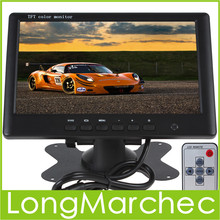 Sale 5PCS 7 Inch HD 800 x 480 Super Thin Color TFT LCD 2 Channels Video Input Car Rear View Monitor