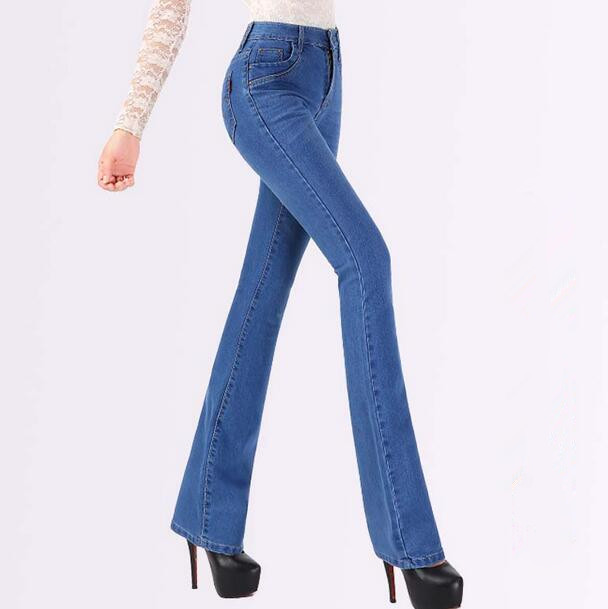New Fashion Women denim Slim Boot Cut Jeans ladies flare pants trousers T596Îäåæäà è àêñåññóàðû<br><br>