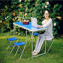 Muebles De Jardin Wicker Rattan Furniture Wooden Folding Table Picnic Portable Travel Outdoor Tables Banquet Table(China)