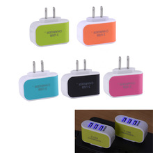 Universal US Plug 3.1A AC Triple 3 USB Port Wall Home Travel Charger Adapter for iPhone Samsung ipad All CellPhone