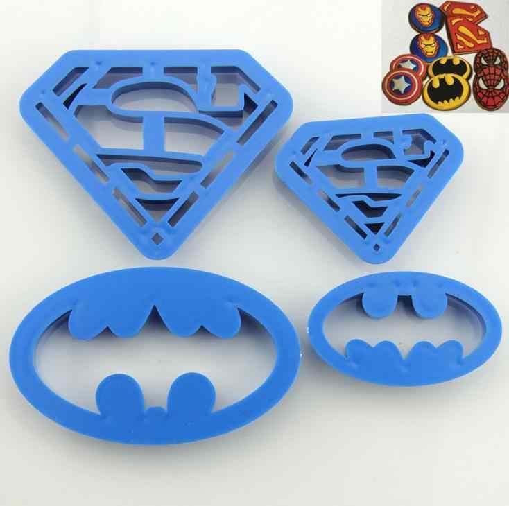 Cookie Cutters Super Hero Batman Superman Mould Sugarcraft Fondant Cake4Pcs//lot