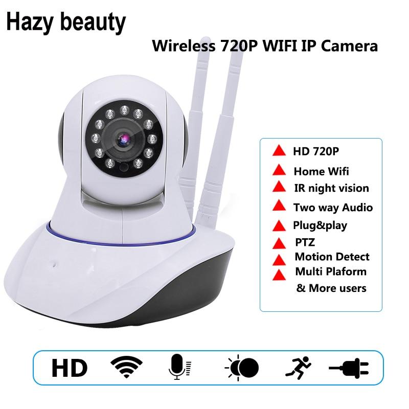 Hazy beauty 720P IP Camera Wireless Home Security IP Camera Surveillance Camera Wifi Night Vision CCTV Camera Baby Monitor<br>