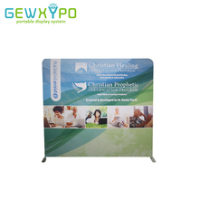 8ft*7.5ft Trade Show Booth Straight Backwall Display,Portable Easy Fabric Banner Aluminum Stand With Full Color Graphic Printing(China)