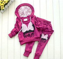 3colors kids sport wear Baby Clothing Set girls sport suit Baby Clothes Baby Garment Sport Suit Fashion Butterfly Set