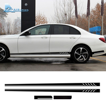 Airspeed Car Side Stripes Decals Sticker Racing Stripes Black Mercedes Benz E Class W212 W213 AMG E300 E350 E500 Accessories