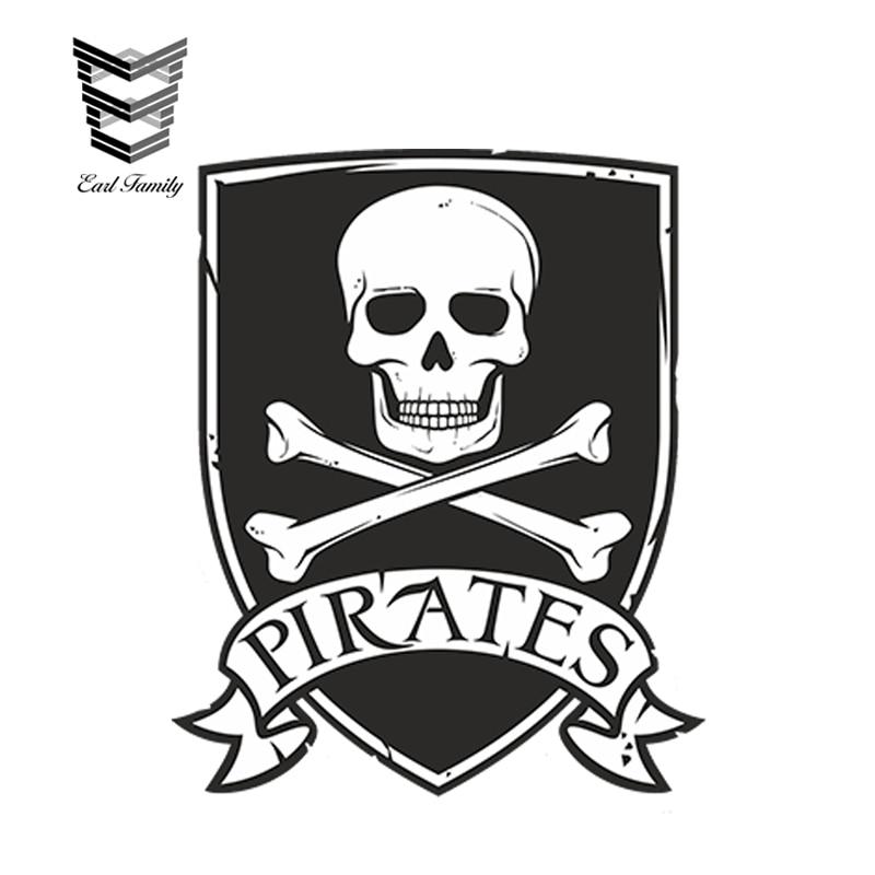 """Pirate Skull car bumper sticker window decal 5/"""" x 4/"""""""