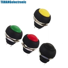 4Pcs Mini 12mm Waterproof Momentary ON/OFF Push Button Round Switch