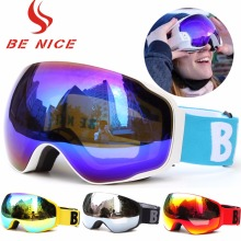 Benice Frameless Design Ski Goggle Snow Glasses UV400- Protection & Multi-Color Double Anti-fog Lens Snowboard Skiing Goggle(China)