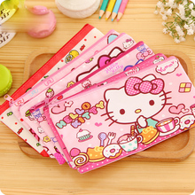 12pcs/lot Cute Hello kitty school pencil case for girls kawaii stationery pouch zipper pencil bag for kid office school supplies(China)