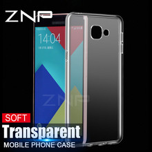 ZNP Transparent Soft TPU Case For Samsung Galaxy A5 A7 A3 2016 2017 J5 J7 Silicone Cover Cases For Samsung A510 J510 A720 Case(China)