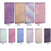 Front+Back Bling Glitter Shiny Crystal Diamond Full Body Decal Film Sticker Skin For Huawei Ascend P8 /P8 Lite shining capa film